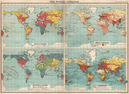 WORLD POPULATION. Races Density Religions Commerce coaling stations 1912 map